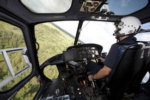 Piloten Michael Elmeskog är redo för ännu en bekämpningsomgång.
