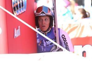 Sara Hector gick igenom åket och var inte nöjd med sin insats i världscuppremiären i Sölden.