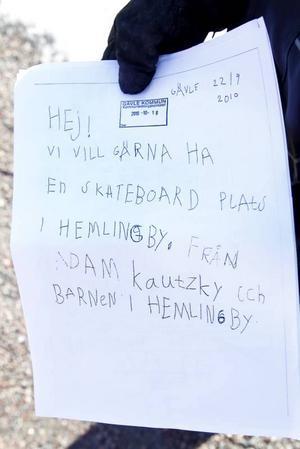 I höstas skrev Adam Kautzky det här brevet.