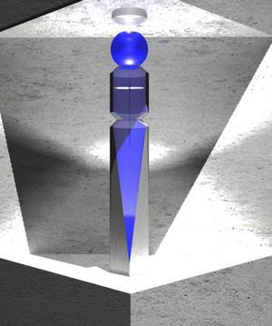 3D-ritningen av Britta Forestier Lundin visar skulpturen.