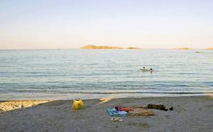 James Bond-stranden Capriccioli på Costa Smeralda, Sardinien.