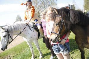 Evelina Eriksson, Hanna Sjödin och Vera Wikström hade pippi på hästar.