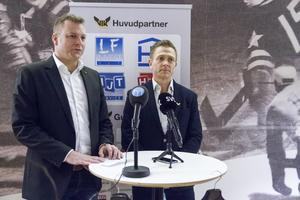 VIK Hockeys ordförande Mattias Jonson och klubbchefen Mats Brokvist.