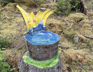 Prinsesstolen - en kunglig krona, och en sjö och ett berg för den som tittar nära.