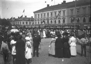Så här såg det ut på Barnens dag 1920.