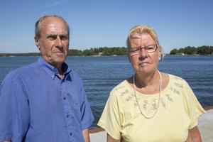 Stoppade tjuvarna. Anders och Louise Branting skrämde iväg tjuvarna men är oroliga att de kommer tillbaka igen. Foto: Stig-Göran Nilsson