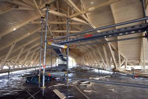 Brinkabs tak är en ren hälsingeprodukt, för takstolarna kommer från Åsbergs i Bjuråker.