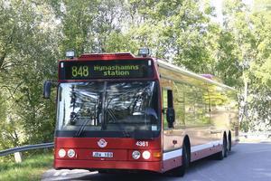 Buss 848 mot Nynäshamns station kan starta vid Tungelsta station i stället för Västerhaninge station, enligt ett förslag från SL och Nobina.