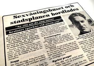 Tuffa ord yttrades efter ett nederlag mot oppositionen 1987.
