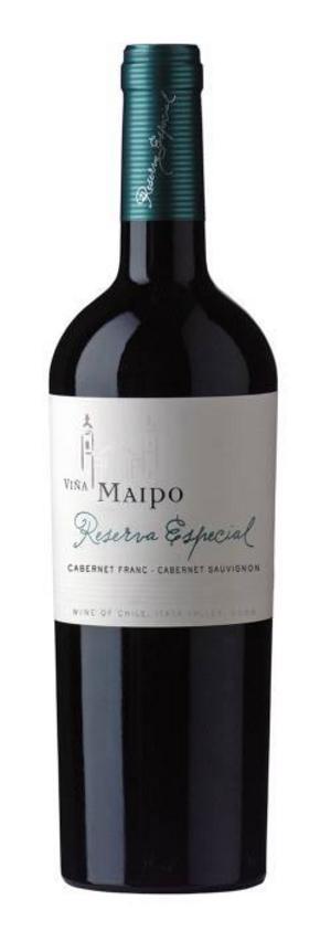Viña Maipo Reserva Especial Cabernet Franc Cabernet Sauvignon 2008 (95197) passar perfekt till köttragu, 79 kronor.