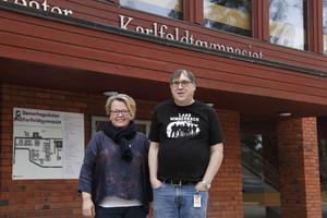 Sari Johansson, biträdande rektor, och Bernt-Åke