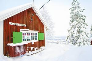 Från stugan har man en vacker utsikt över Sundsvall.