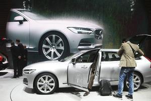 Nya Volvo V90 visas nu officiellt på bilsalongen i Genéve. Den ska efterträda V70.