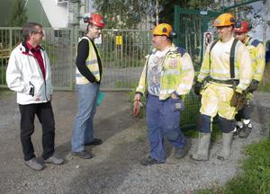 På onsdagen besökte Raimo Pärssinen och Anders Nilsson NCC: s byggarbetsplats vid värmeverket i Bollnäs.