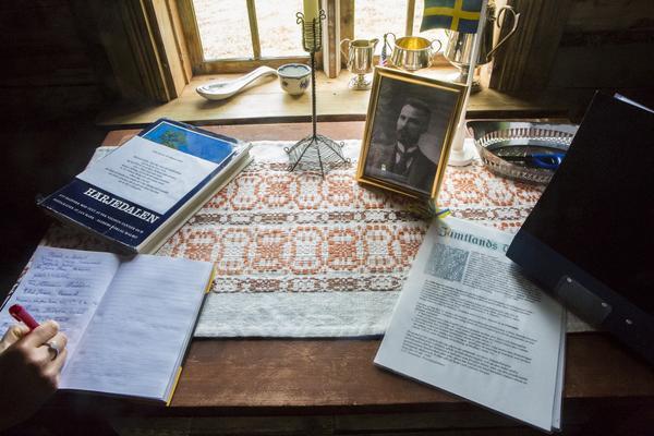 Besökarna fick skriva sina namn i gästboken.