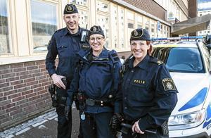 Poliserna Christian Hald, Lina Sundberg och Ulrika Löfström tillhör rekryteringsgruppen som vill väcka intresse för polisyrket.