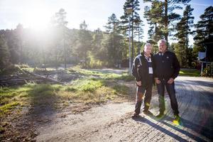 Johan Sjöberg och Mauritz Ouchterlony i Öjeberget AB får vänta med etapp två.