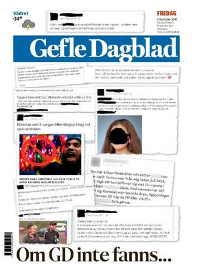 Gefle Dagblad 2 december 2016.