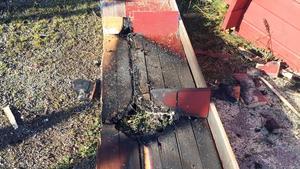 Kiosken brandskadades på tisdagen och är oanvändbar, enligt fotbollsföreningen.