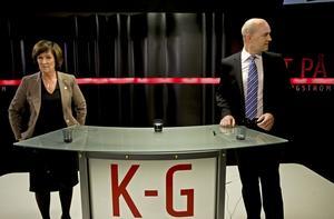 Mästarmöte. Men knappast något mästerligt möte mellan Sahlin och Reinfeldt bjöds det på i Rakt på med K-G Bergström i går.