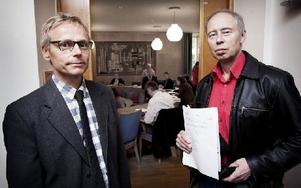 Ludvika kommun hade representanter på plats i form av Torkel Berg, planarkitekt, och miljöchefen Göran Eriksson. Foto: Peter Ohlsson/DT