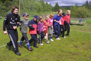 Sisu skapade sisu på Bergsjölägret. Till vänster Aron Diseborn.