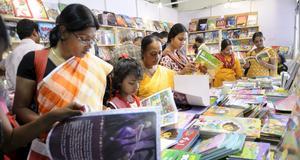 Bokmässa i Indien.