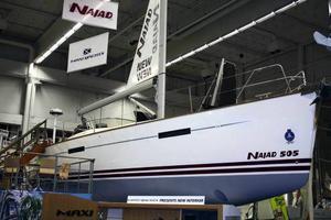 Största båten på mässan. En 15,3 meter lång Najad 505. Priset: 7,2 miljoner kronor. Plus moms.