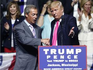 Donald Trump med sin kompis, Ukipledaren Nigel Farage