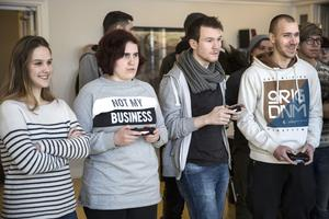 Irma Modronja, Emmy Strutzenblad, Stefan Ekelund och Kestutis Jankunas var först ut att testa nya spelet Ruckus Rumble.