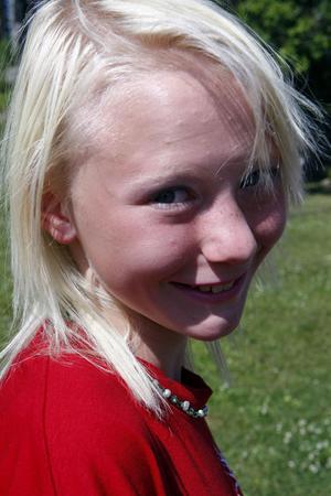 Elvaåriga Pim var glad över att få vara på kollo och hoppas att hon får gå även nästa år.