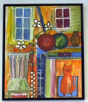 Katten och ögat återkommer då och då i Stig Bohlins verk.