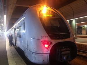 Tåget som skulle gå till Västerås.