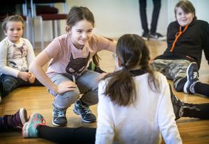 Snart 10-åriga Hilma Falkeström från Sörviken var en av skådespelarna som prövade lyckan i helgens audition i Östersund.