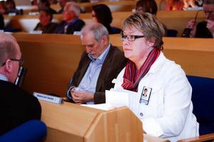 Oppositionsrådet Marianne Larm-Svensson (C) kritiserade att landstinget har försökt  mörka gränsdragningsproblemen i den nya regionen.