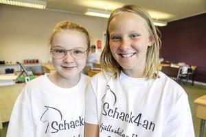 Linnea Myhr och Alva Hedström har kvalificerat sig även individuellt och ska tävla i schackfyramästaren på SM-veckan i Uppsala i juli. Dit åker även Jennifer Rosén från Vemdalen.