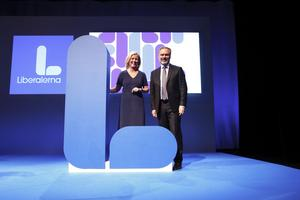 Liberalernas partiledare Jan Björklund och partisekreterare Maria Arnholm. I fjol hölls partiets riksmöte i Linköping, i år är de i Västerås.
