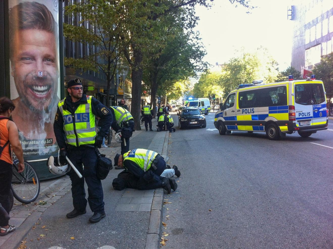 Djurrattsaktivister greps efter demonstration