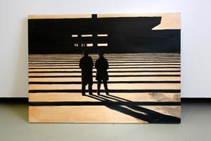 Turister. Målningen ingår i den aktuella utställningen.