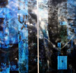 På Exercishallen visar Kåre Henriksson denna diptyk som inspirerats av William Blake ...