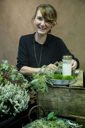 Florist, formgivare, dekoratör - och nu årets eldsjäl. Lina Bifrost har många fina titlar.