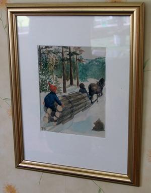 En vinterbild av Tekla Nordin Svensson från Enånger.