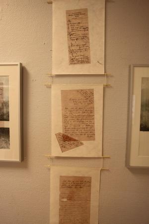 Under en loppisstädning hittade Jonas Pettersson gamla brev som finns med på utställningen.