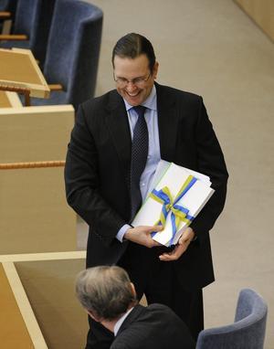 Nöjd och stolt. Finansminister Anders Borg hade mycket att glädjas åt i vårbudgeten.