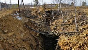 Så här ser Johannisgruvan eller Ölgruvan ut idag, men John Sohlberg skulle vilja ha en bild från förr, när gruvan användes som lagerkällare.