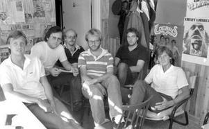 """1983 startades Yran på nytt. Lars """"Linken"""" Lindqvist, Uffe Edström, Bengt """"Buddha"""" Eriksson, Lars """"Sillen"""" Sillrén, Bengt """"Pecka"""" Magnusson och Tomas Persson ville göra Östersund till en roligare plats att leva på."""