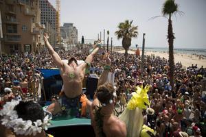 Prideparad i Tel Aviv, Israel.