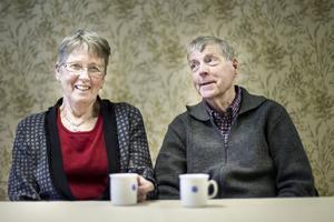 Inga-Lill Ljus och Bert Josefsson har mer än 40 års minnen som boende i bsotadsrättsförenignen Slotte.