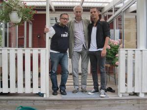 De ska producera både film och teater. Från vänster Johan Zeffer, Waldemar Bergendahl och Emil Ahlén.