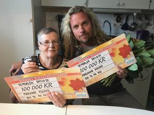 Marianne Edlund fick besök av Christian